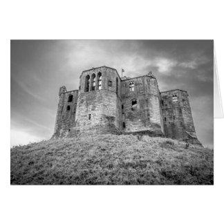 Castillo de Warkworth, Northumberland, tarjeta de