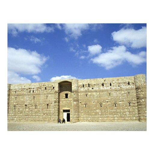 Castillo del desierto, EL Amra, Jordania de Quasr Tarjetones