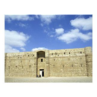 Castillo del desierto, EL Amra, Jordania de Quasr Folleto 21,6 X 28 Cm