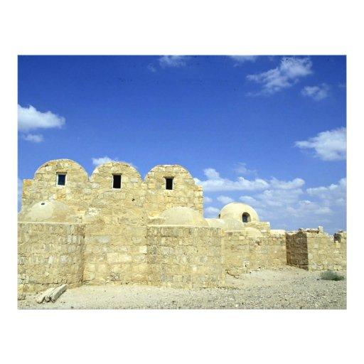 Castillo del desierto, parte posterior del EL Amra Tarjeta Publicitaria