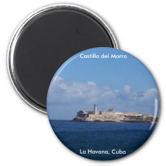 Castillo del Morro La Habana Cuba Imán Redondo 5 Cm