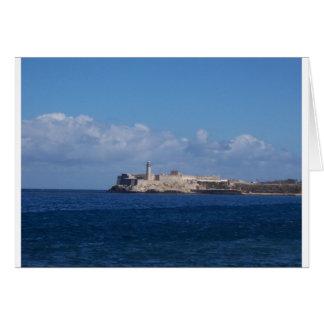 Castillo del Morro La Habana Cuba Tarjeta De Felicitación