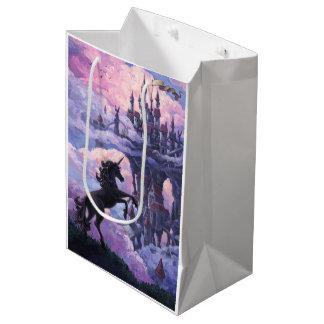 Castillo del unicornio bolsa de regalo mediana