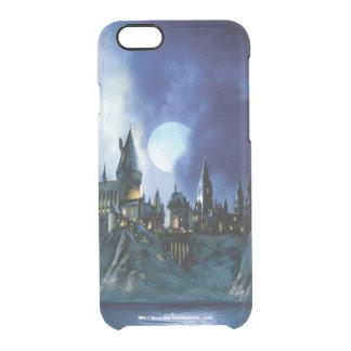 Castillo el | Hogwarts de Harry Potter en la noche Funda Transparente Para iPhone 6/6S