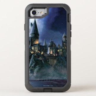 Castillo el | Hogwarts iluminado por la luna de Funda OtterBox Defender Para iPhone 8/7