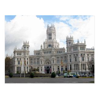 Castillo en postal de Madrid, España