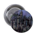 Castillo magnífico de Hogwarts Chapa Redonda De 5 Cm