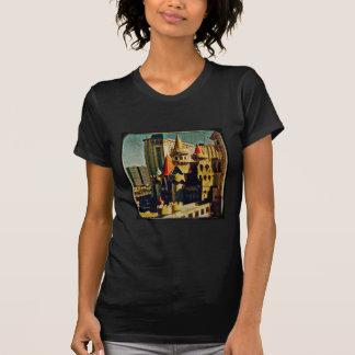 Castillo medieval del Grunge Camisetas
