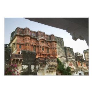 Castillo real interior de Ghanerao, Rajasthán, la  Impresión Fotográfica