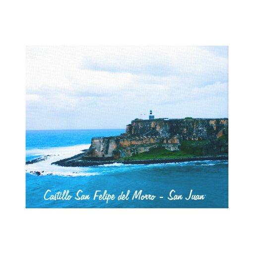 Castillo San Felipe del Morro - fuertes viejos de  Impresiones De Lienzo