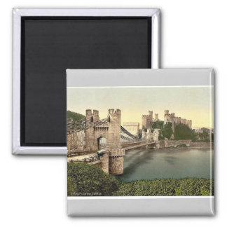 Castillo y puente colgante, Conway (es decir Conwy Iman Para Frigorífico