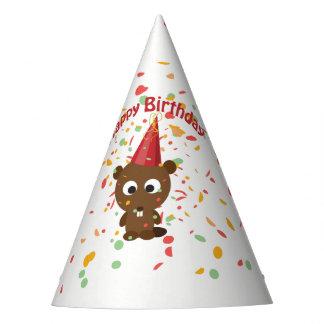 Castor del fiesta del confeti del feliz cumpleaños gorro de fiesta