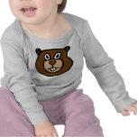 Castor lindo de la camiseta del bebé