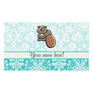 Castor lindo del dibujo animado tarjetas de visita
