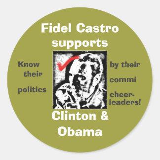 castrosealofapproval, Fidel Castro, ayudas,… Pegatina Redonda