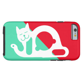 CAT BLANCO por Slipperywindow Funda Resistente iPhone 6