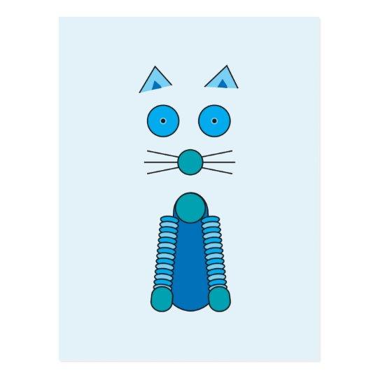 CAT de la aguamarina Postal