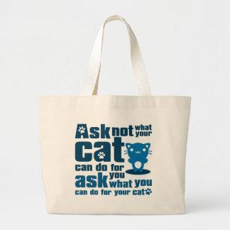 Cat_Print Bolsas Lienzo