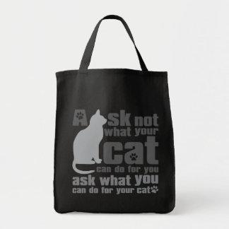 Cat_Print Bolsa Lienzo
