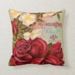 Catálogo de Rosas Vintage Cubre almohada estadouni
