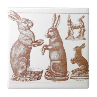 Catálogo del conejito del molde del chocolate de azulejo