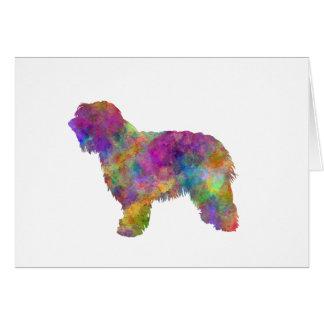 Catalonian sheepdog in watercolor tarjeta de felicitación