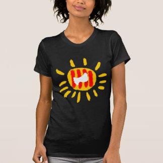 Cataluña patriótica, sol de Catalunya Camiseta