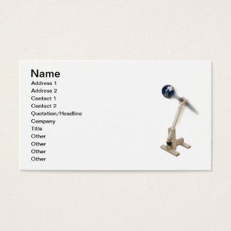 Catapulta de madera de la guerra mundial tarjeta de negocios