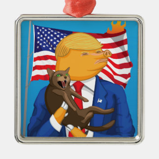 Catástrofe americana adorno de cerámica