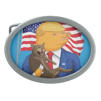 Catástrofe americana hebilla ovalada