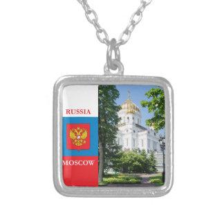Catedral Cristo el salvador en Moscú Collar Plateado