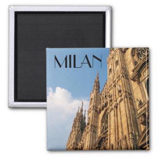 Catedral de Milano en la puesta del sol Imán Cuadrado