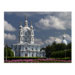 Catedral de Smolny en St Petersburg, Rusia Tarjetas Postales