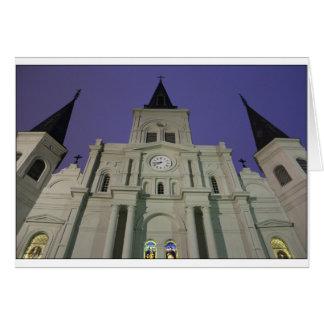 Catedral de St. Louis, cuadrado de Jackson, New Tarjeta De Felicitación