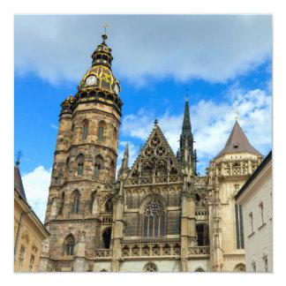 Catedral del St. Elisabeth en Kosice, Eslovaquia Invitación 13,3 Cm X 13,3cm