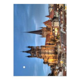 Catedral Notre Dame de Lausanne, Suiza, HDR Invitación 13,9 X 19,0 Cm
