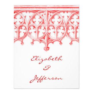 Catedral roja color de rosa que casa RSVP Anuncio