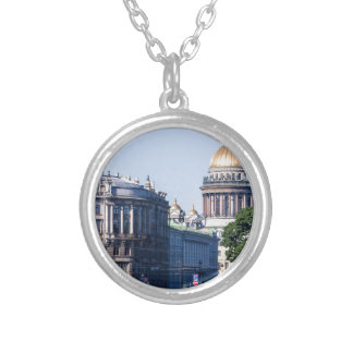 Catedral St Petersburg Rusia del St Isaac Collar Plateado
