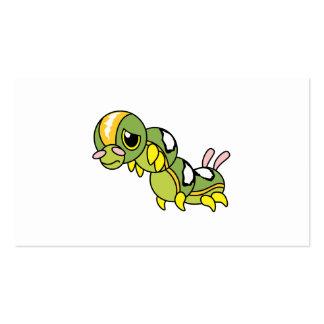Caterpillar que llora gritador solo triste carda plantillas de tarjeta de negocio