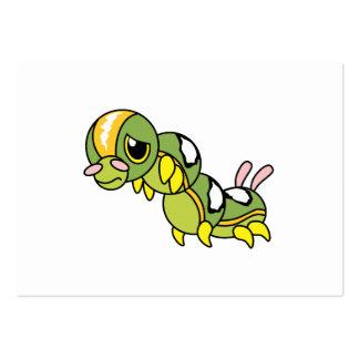 Caterpillar que llora gritador solo triste carda tarjeta de negocio