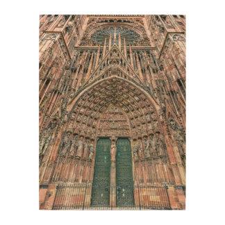 Cathedrale Notre-Dame, Estrasburgo, Francia Impresión En Madera