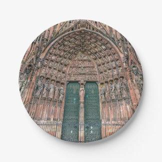Cathedrale Notre-Dame, Estrasburgo, Francia Plato De Papel