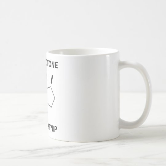 Catnip de Nepetactone A.K.A. (molécula química) Taza De Café