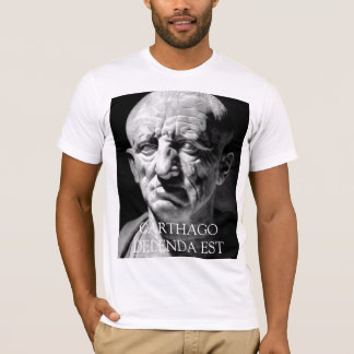 Cato la anciano - CARTHAGO DELENDA EST Camiseta