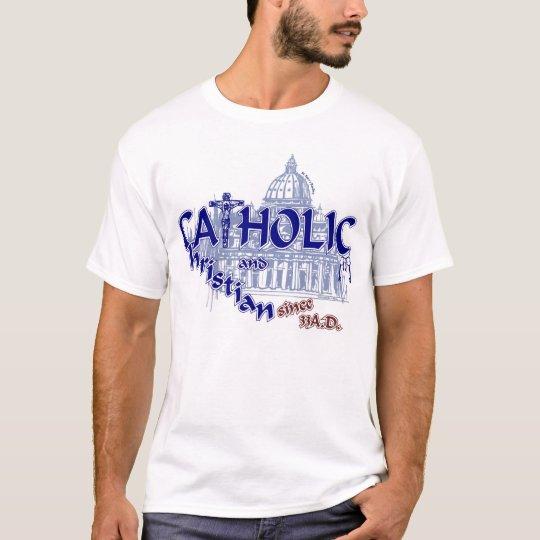 Católico y cristiano camiseta