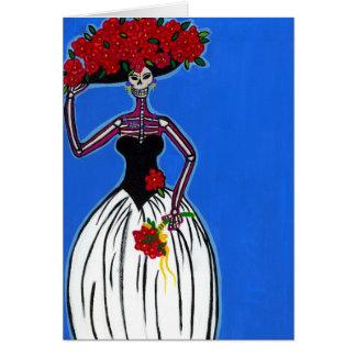 Catrina la novia moderna tarjeta de felicitación