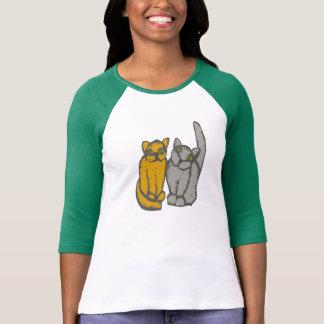 Cats - pareja de gato couple camisetas