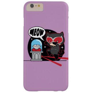 Catwoman de Chibi que roba un diamante Funda Barely There iPhone 6 Plus