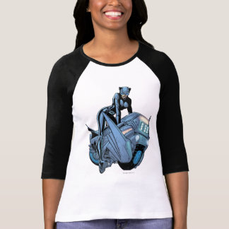 Catwoman y bici camiseta