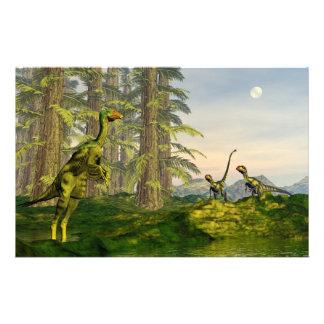 Caudipteryx y dinosaurios del dilong - 3D rinden Papelería
